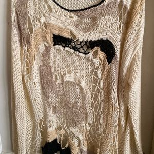 6th and Lane For Lane Bryant Crochet Sweater